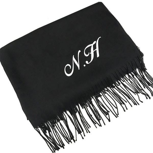 image 1 of Personalised Initial Scarf - Swirl