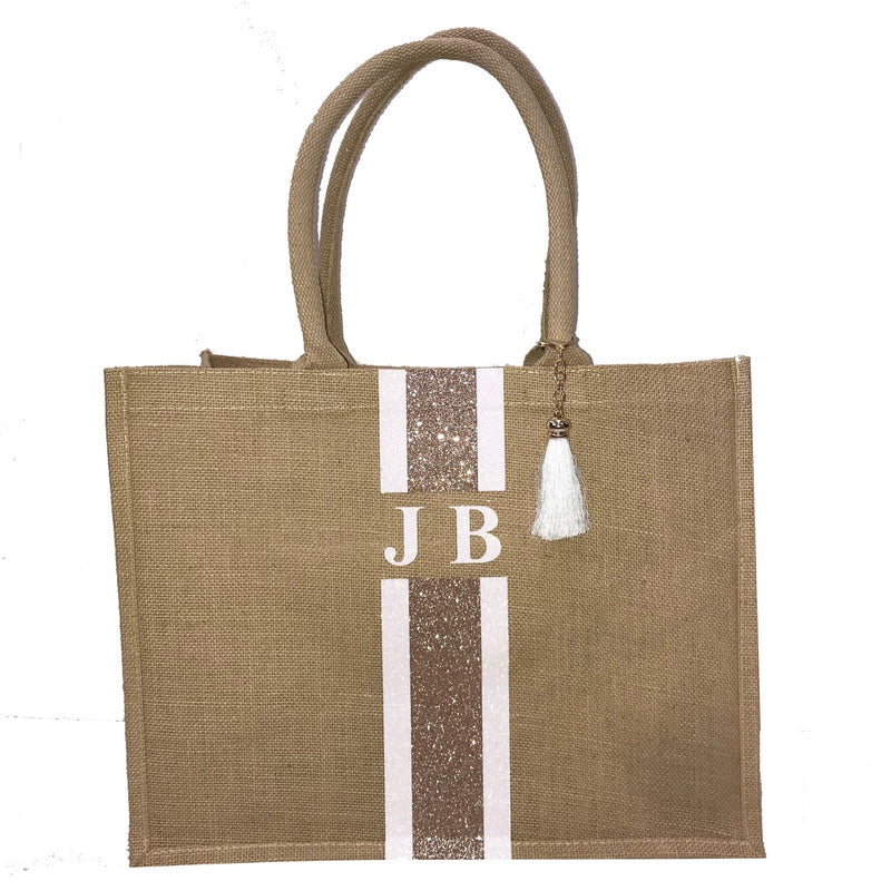 image 1 of GLITTER Personalised Tote Bag  - Large
