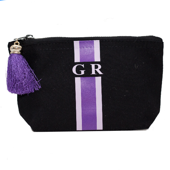 image 1 of Personalised Make Up Bag Black - Large