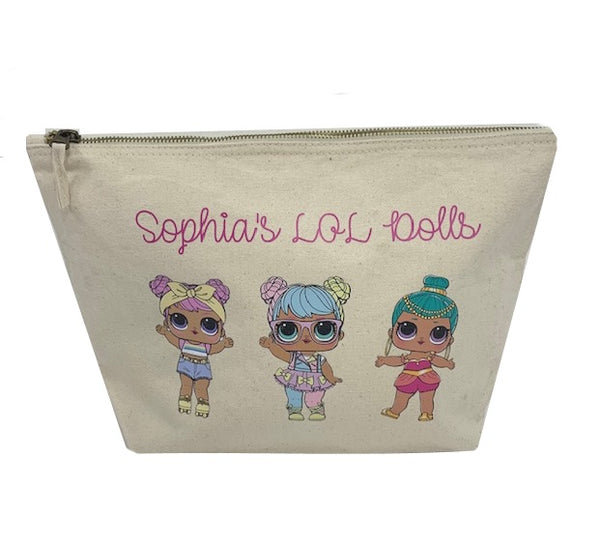 Personalised LOL Dolls Zip Bag