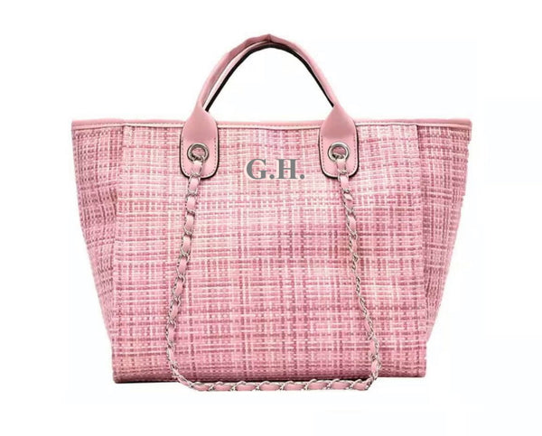 Chanella Chain Bag - PinkTweed