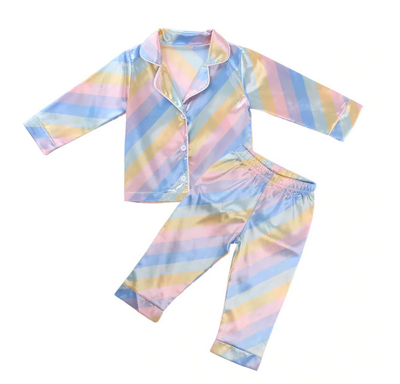 Girls Rainbow Pajamas Long *Preorder*