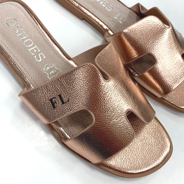 Tanya Lee H Sandals - Rose Gold