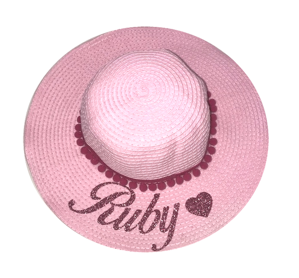 image 1 of Pink Glitter Children's Personalised Hat