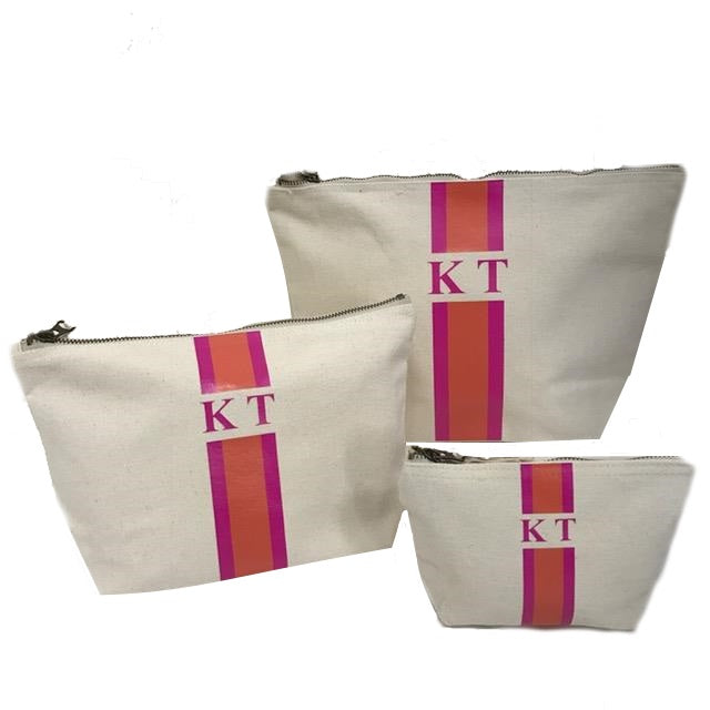 image 1 of Personalised Make Up Bags Set of Three