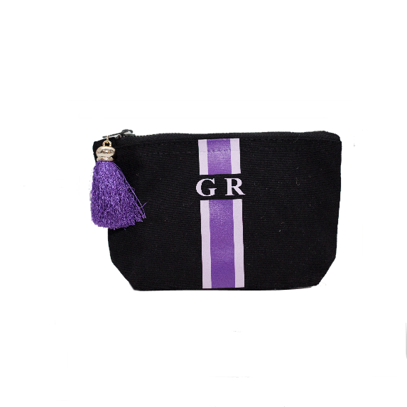 image 1 of Personalised Make Up Bag Black - Small