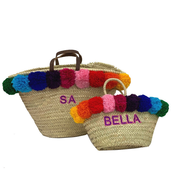 Limited Edition Gift Set Rainbow Embroidered Basket