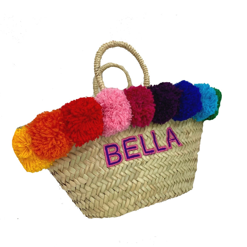 Limited Edition Children's Rainbow Embroidered Basket