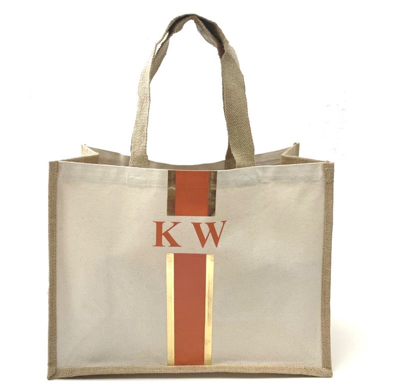 LIMITED EDITION Orange and Gold Tote Bag