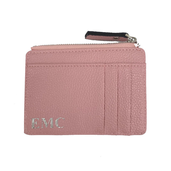 Personalised Card & Coin Holder - Baby Pink