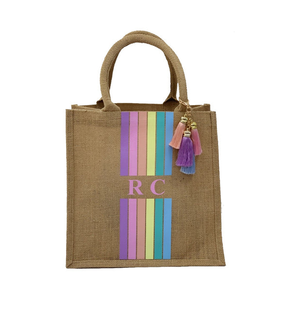 Rainbow Children's Personalised Tote Bag