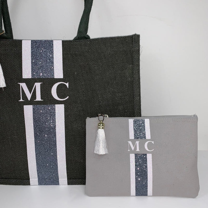GLITTER Grey and White Gift Set