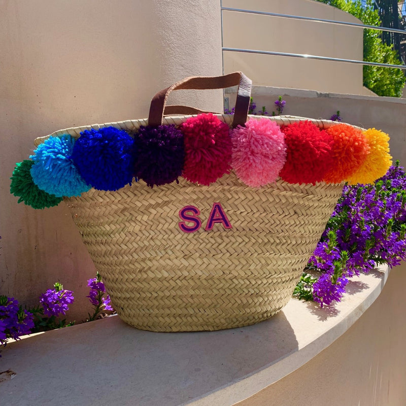 Limited Edition Rainbow Embroidered Basket