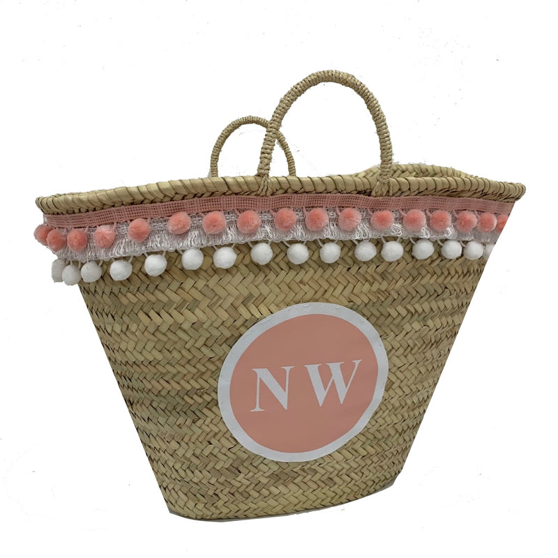 Limited Edition Personalised GLITTER Basket Peach