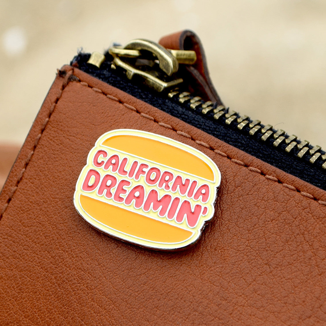 Valley Cruise Press California Dreamin' Burger Pin Badge