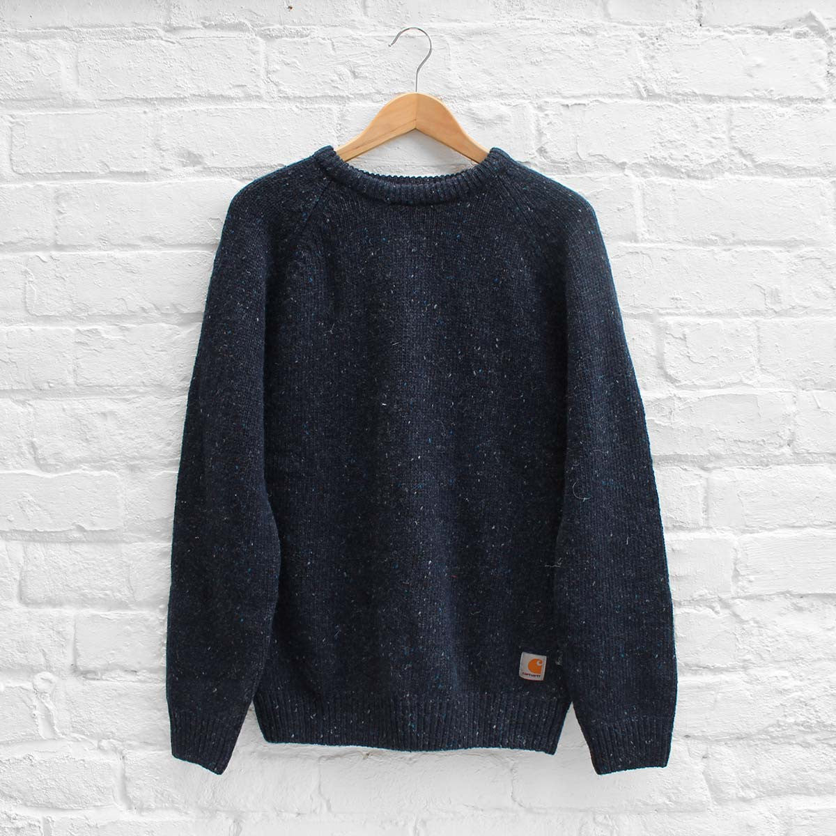 Carhartt WIP Anglistic Sweater Navy Heather