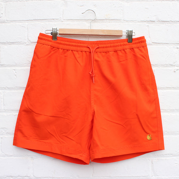 Carhartt WIP Chase Swim Trunk  Pepper/Gold