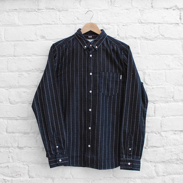 Carhartt WIP Quincy Shirt Heart Stripe / Indigo