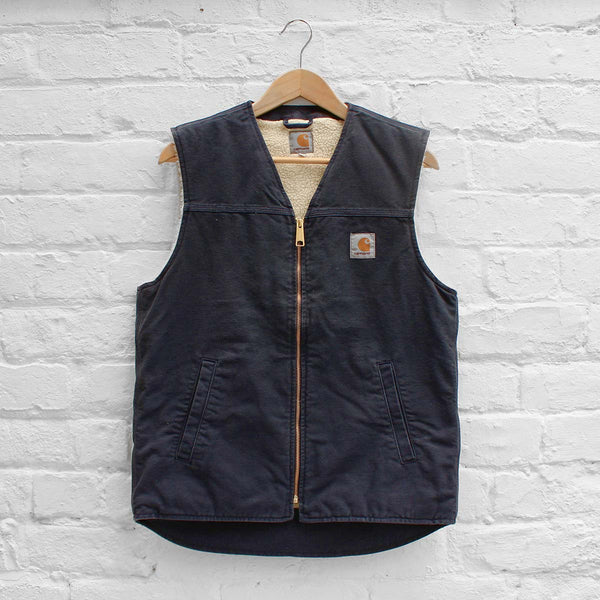 Carhartt WIP Royal Vest Navy (Rinsed)