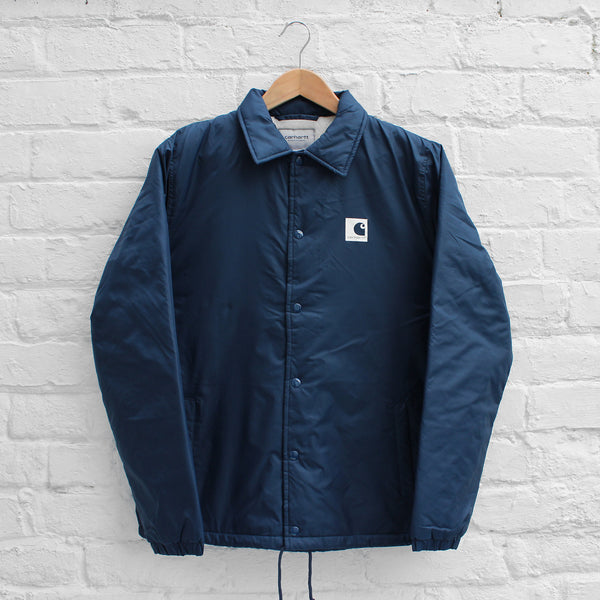 Carhartt WIP Sports Pile Coach Jacket Steel Navy