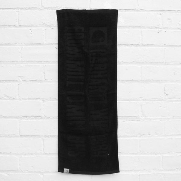 Carhartt WIP 1989 Stage Towel Black