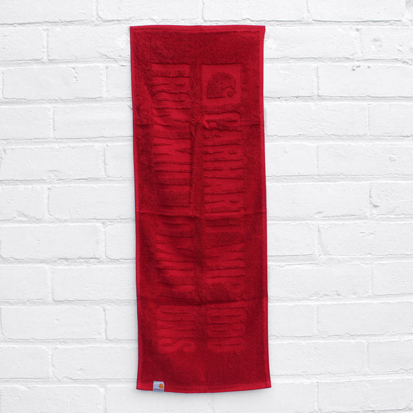 Carhartt WIP 1989 Stage Towel Blast Red
