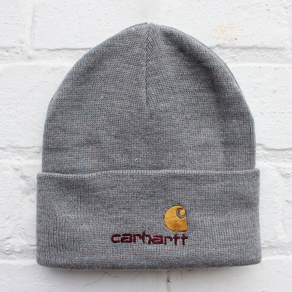 Carhartt WIP American Script Beanie Grey Heather