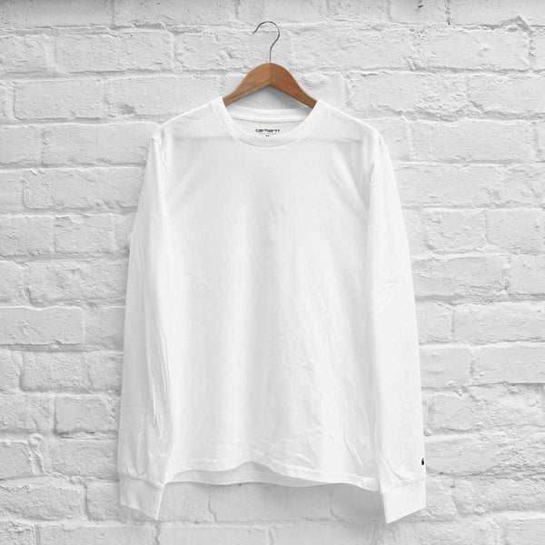 Carhartt WIP Base Long Sleeve T-Shirt White