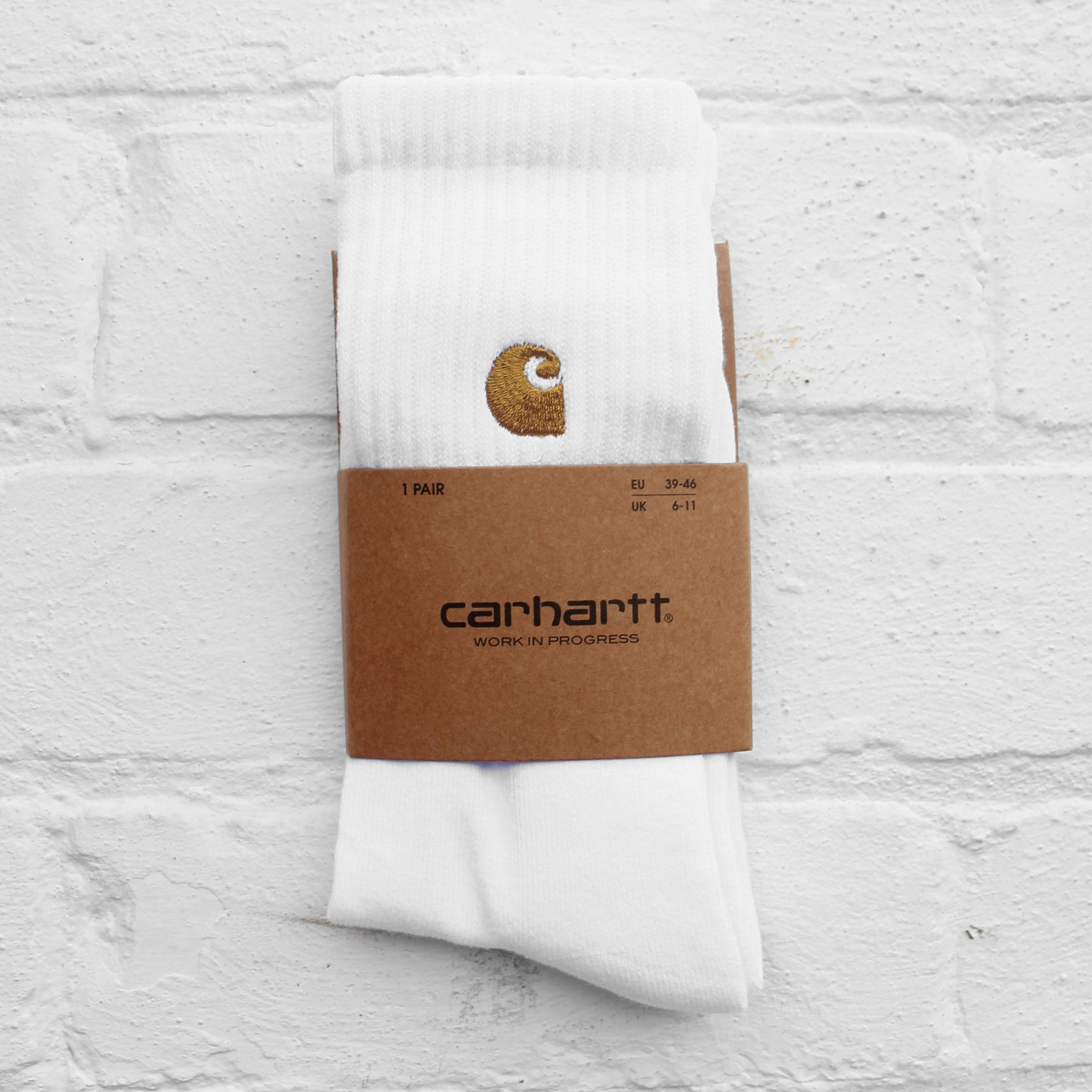 Carhartt WIP Chase Socks White/Gold