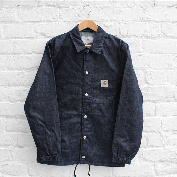 Carhartt WIP Denim Coach Jacket Blue