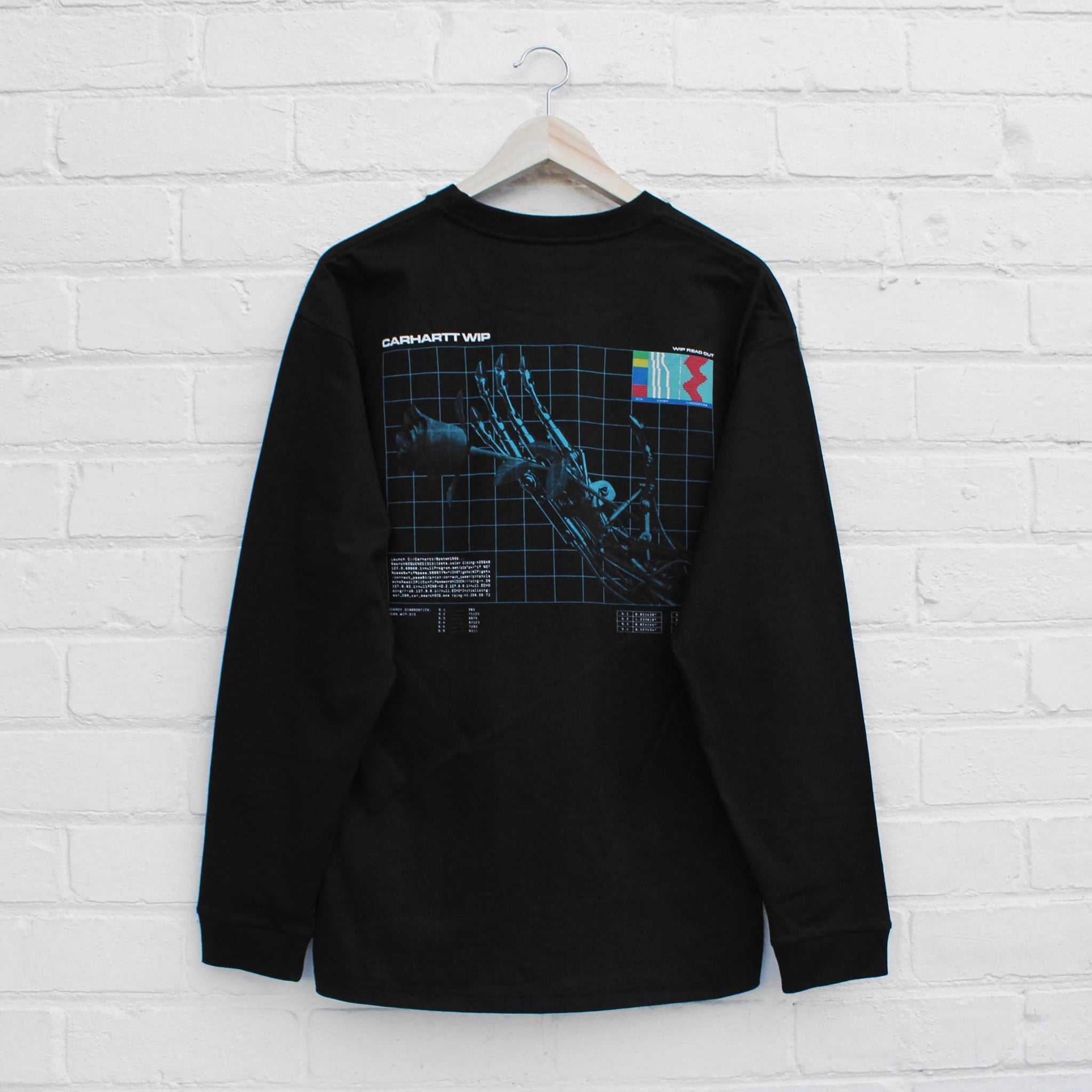 Carhartt WIP Future Romance Long Sleeve T-Shirt  Black