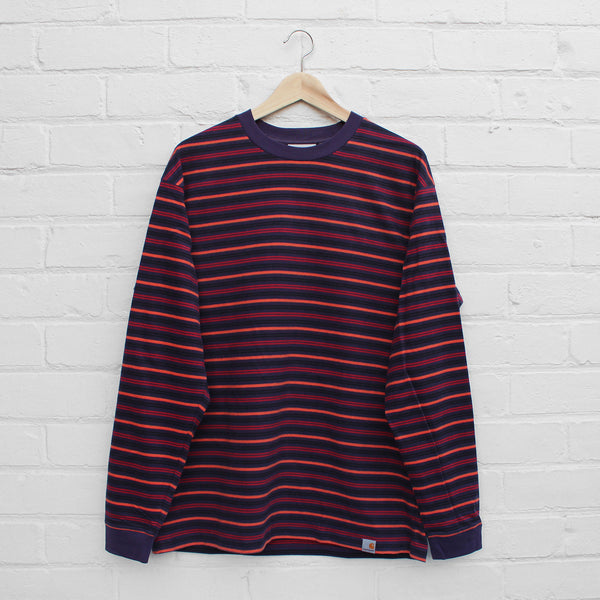 Carhartt WIP Korte Long Sleeve T-Shirt Korte Stripe / Lakers