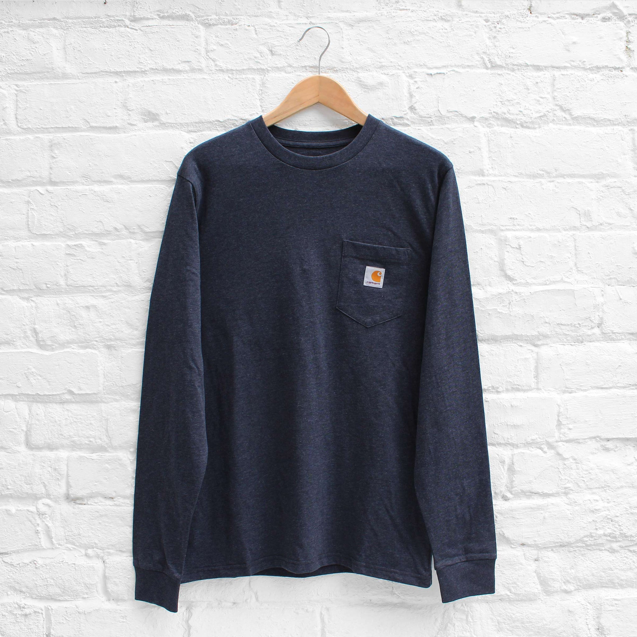 Carhartt WIP Long Sleeve Pocket T-Shirt  Dark Navy Heather