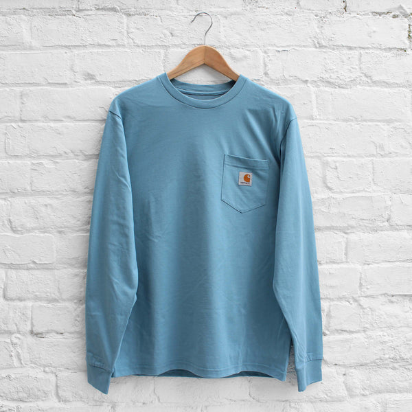 Carhartt WIP Long Sleeve Pocket T-Shirt  Dusty Blue