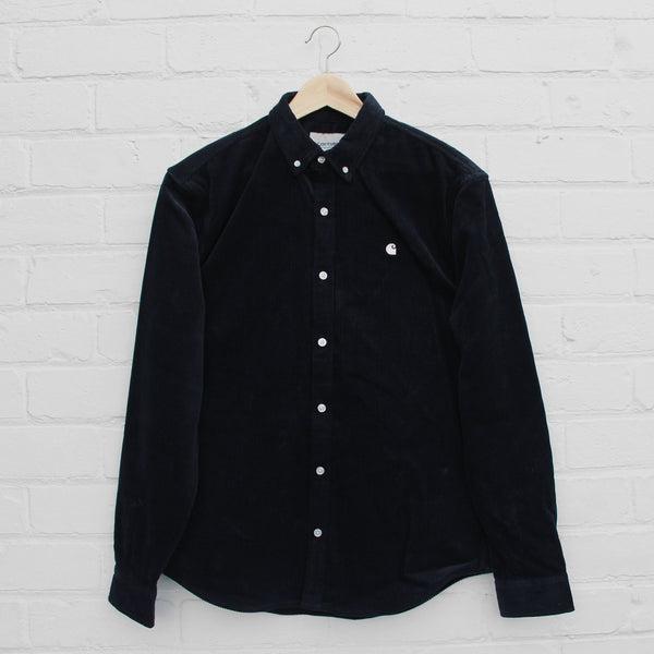 Carhartt WIP Madison Cord Shirt Dark Navy