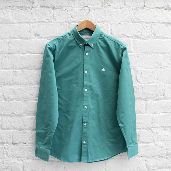Carhartt WIP Madison Shirt Soft Teal