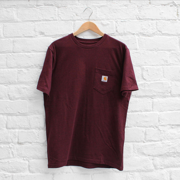 Carhartt WIP Pocket T-Shirt Damson Heather