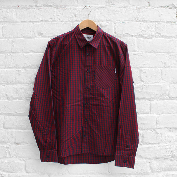 Carhartt WIP Preston Shirt Navy/Cranberry