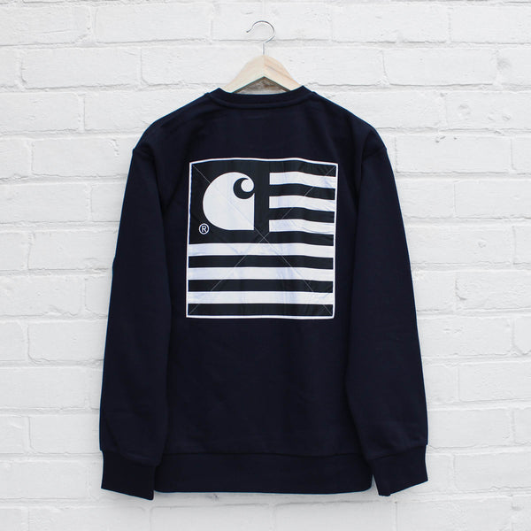 Carhartt WIP State Patch Sweat  Dark Navy