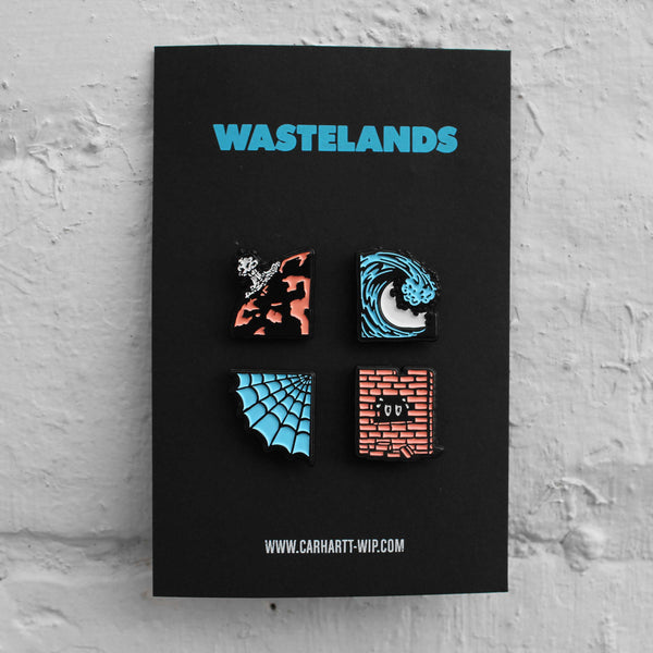 Carhartt WIP Wastelands Pin Badge Set Multicolour