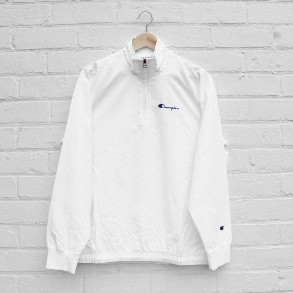 Champion Half Zip Jacket White