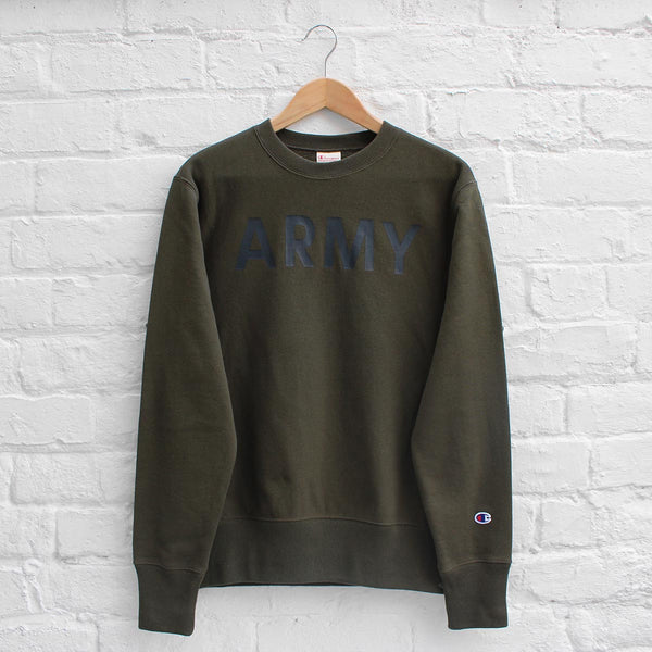 Champion ARMY Crew Sweat Olive