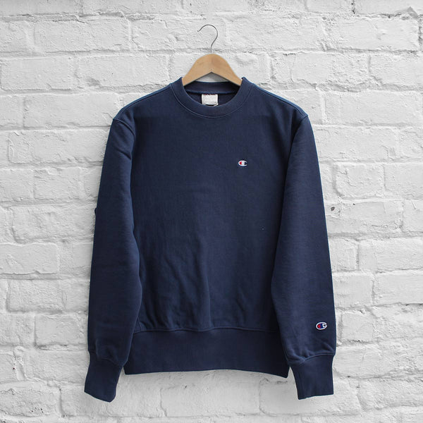 Champion Small C Sweat Crew Navy