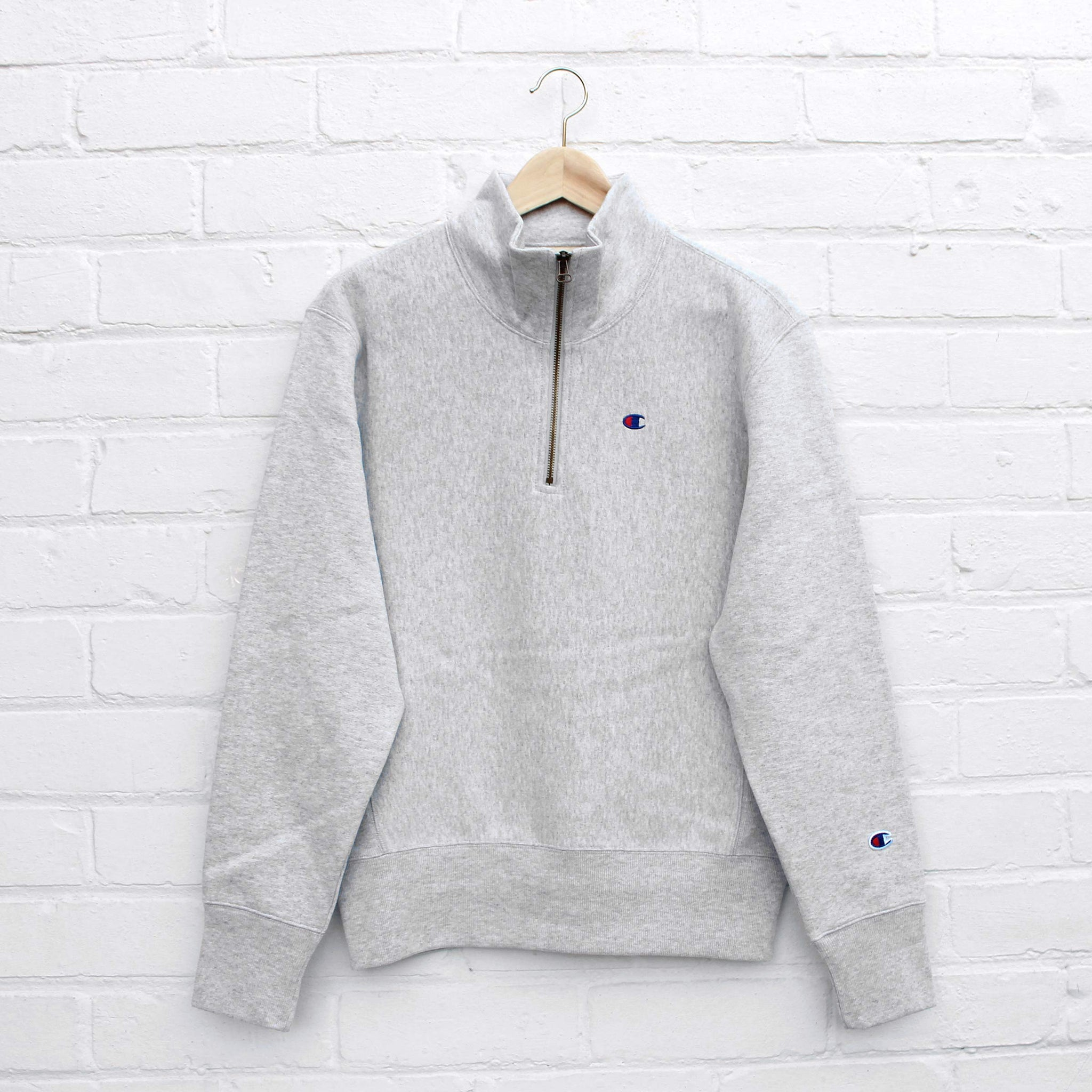 Champion Half Zip Sweatshirt Grey Heather