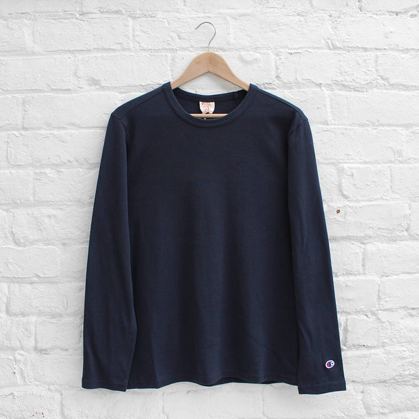 Champion Long Sleeve T-Shirt Navy