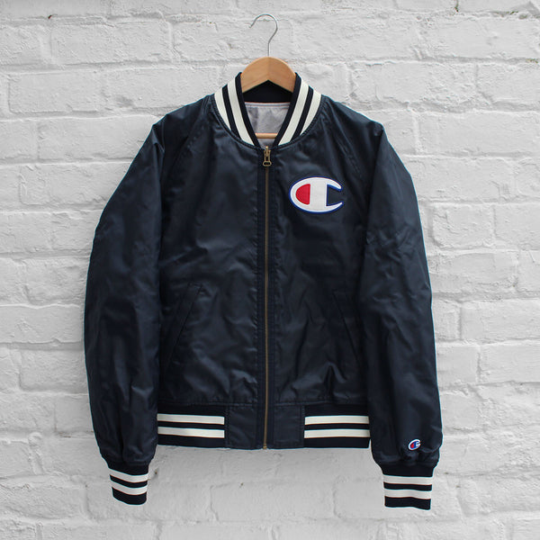 Champion Reversible Stadium Jacket Navy/Grey
