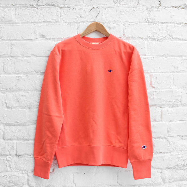 Champion Small C Sweat Crew Coral