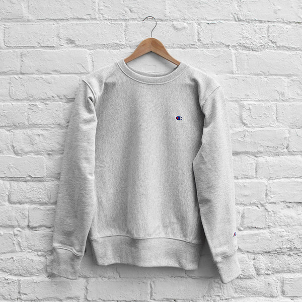 Champion Small C Sweat Crew Grey Heather