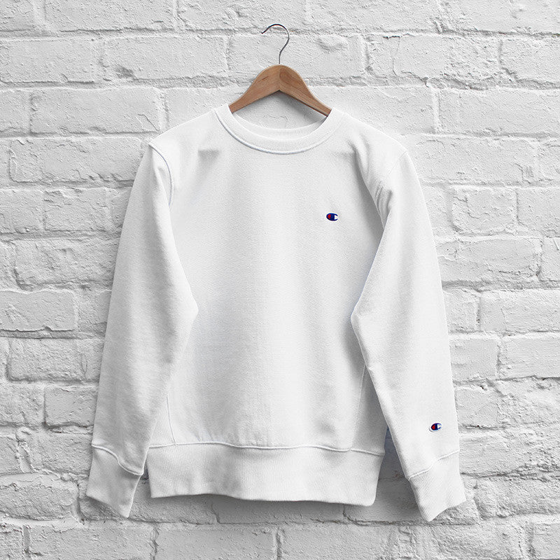 Champion Small C Sweat Crew - White