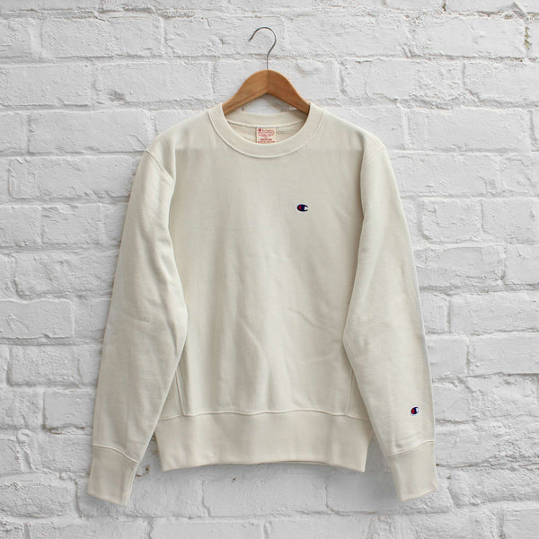 Champion Small C Sweat Crew Off White